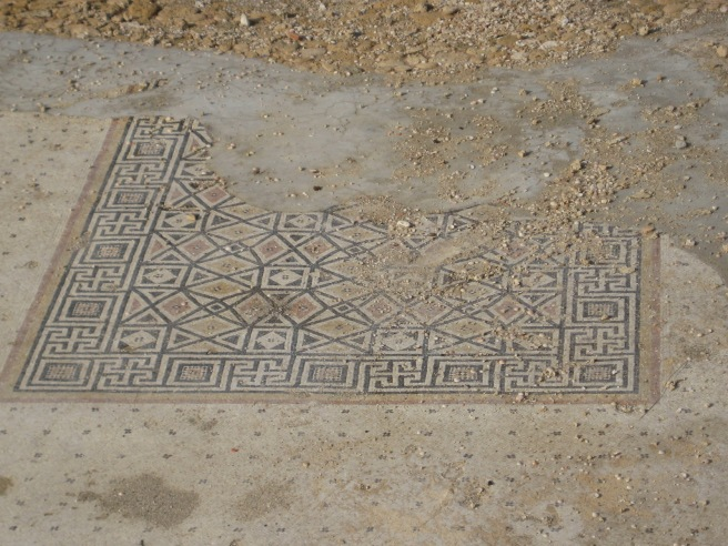 Original floor from Herod the Great's palace at Caesarea Maritima