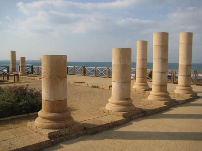 Remains from Herod the Great's palace at Caesarea Maritima
