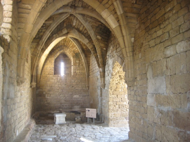 Inside the main gate of Caesarea Maritima, built during the crusader era