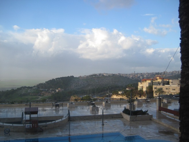 Paul's view from the hotel in Nazareth (oh yes, I am jealous)
