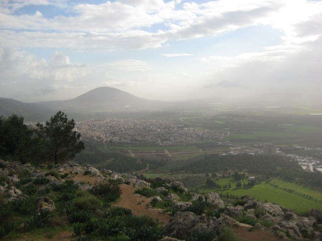 Viewing the Jezreel Valley from the Nazareth ridge