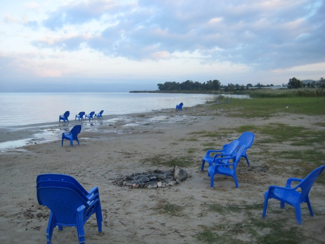 Bonfire by the Sea of Galilee ~ I ask you, what is cooler than that?