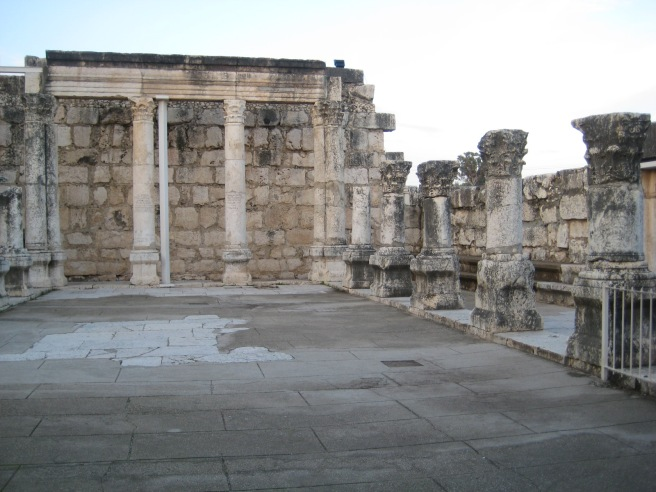 """I am the bread of life,"" was declared by Jesus here. ""This day is this scripture fulfilled in your ears."" Wow. This synagogue is built on the synagogue where Jesus taught in Capernaum."