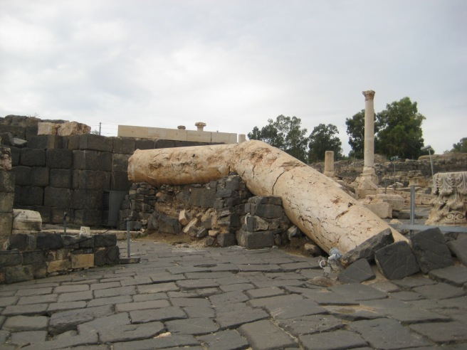Remains from the earthquake at Bet Shan