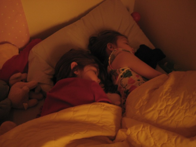Sophia's gone over to Hope's bed almost every night this week.