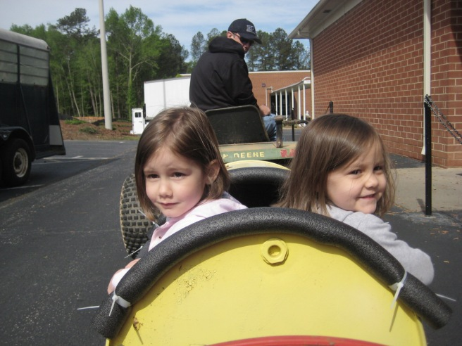 Next was the Barrel Train! This was a favorite from the last time we went to Super Saturday.