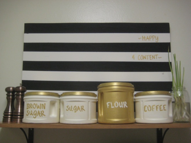 Diy Gilded Canisters Made From Plastic Folgers Coffee