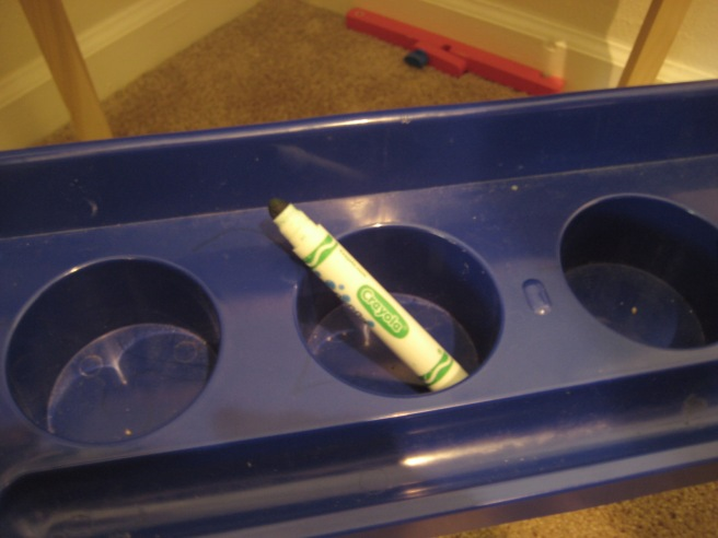 Green marker without lid: found: approximately 9:15 am