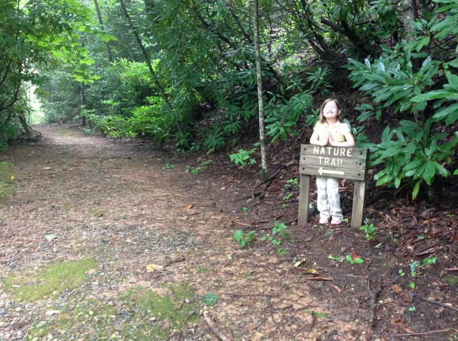 Hopey begged to go on the nature trail.