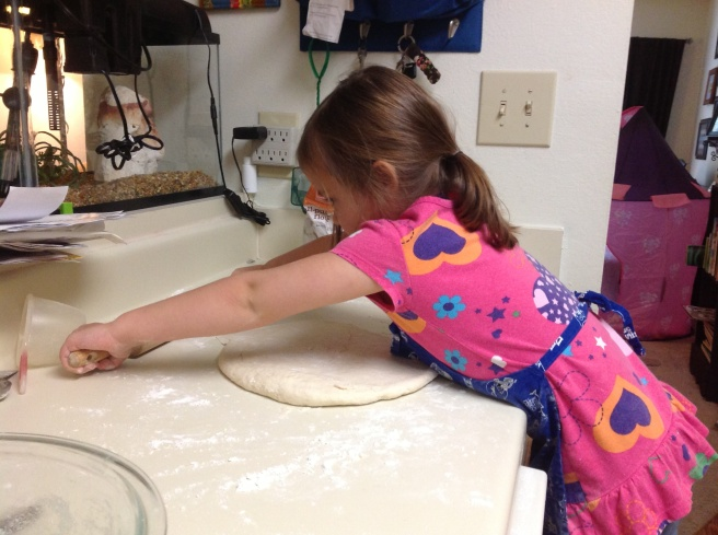 I think Sophia's been wanting to use a real rolling pin for at least two years.