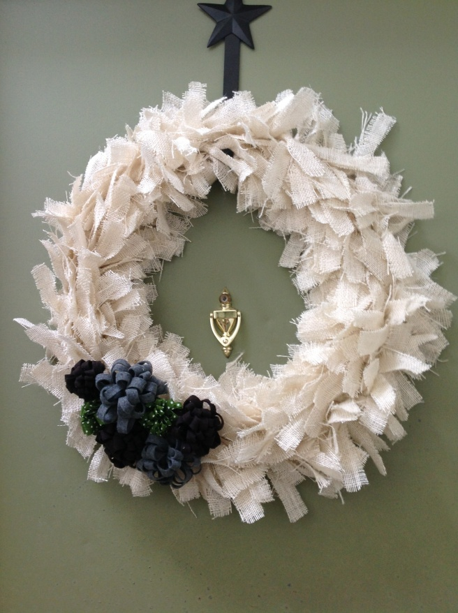 It's about time I made a burlap wreath after pinning so many.