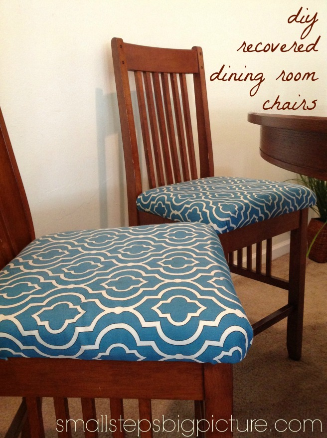 diy recovered dining room chairs