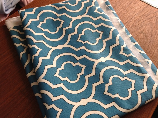 The fabric. I love it! In order to choose from the many fabrics and colors I love, I looked for blue and graphic. At most, these will last five years, so it seemed like a good time to go for something a little more fun.