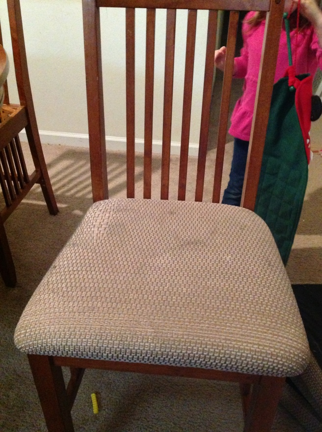 The chairs. This one is by far the best. They have served us well, but serving little kids had taken its toll.