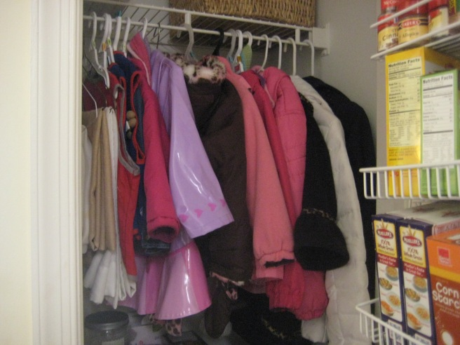 half coat closet, half pantry