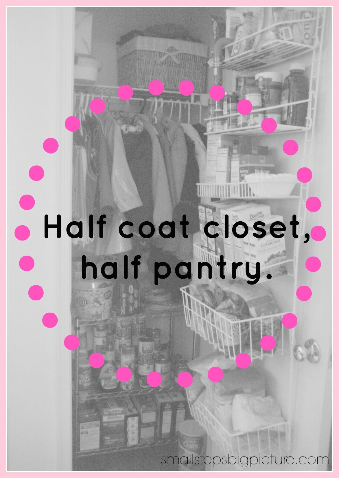 Half Pantry, Half Coat Closet