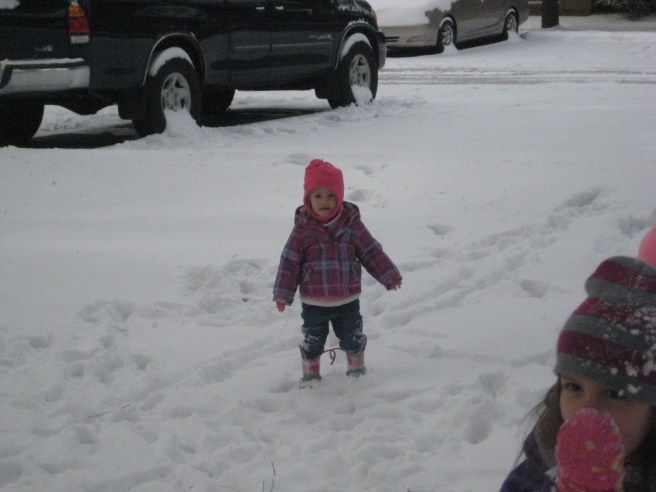 I can't blame Mckayla for wanting to go inside. It was 24 degrees - brrrr!!