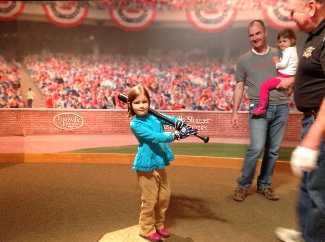 Holding Derek Jeter's bat.
