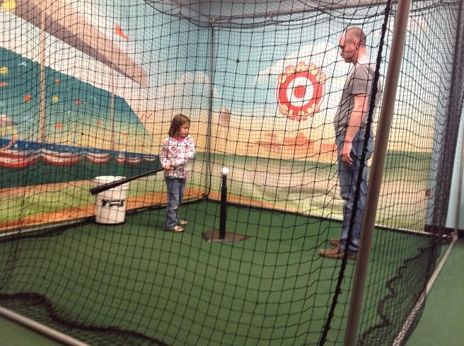 Practicing their swings