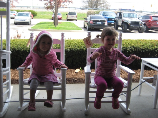 Loving the little rocking chairs.
