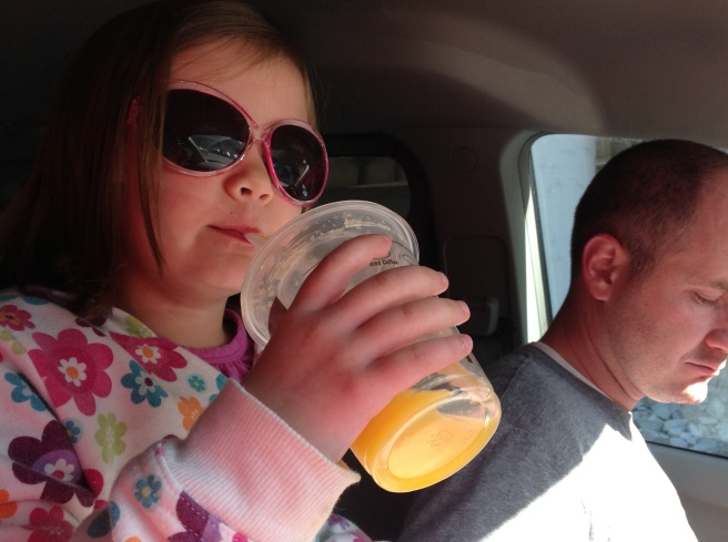Because sometimes all you need to be cool is shades and orange juice. = )